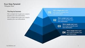 Pyramid Powerpoint Four Step Pyramid 3d Ppt Diagram Slide Ocean