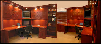 corner work station cherry wood desk bookcase combo
