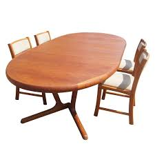 scandinavian teak dining table and four chairs at 1stdibs 4 chair dining table set with