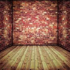 abstract interior with old brick wall
