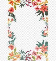 Flower Paper Clips Flower Paper Clip Art Summer Flower Border Shape Png