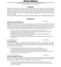 Supervisor Resume Templates Interesting Restaurant Manager Resume Sample Engineering Supervisor Examples
