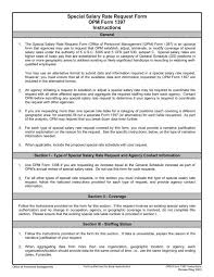 Special Salary Rate Request Form Opm Form 1397 Office Of