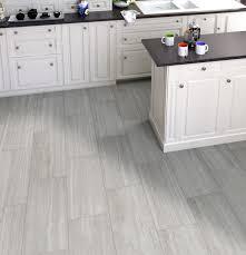 Tile Flooring Rectangular Grey White Traditional Ceramic Tile