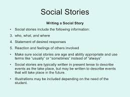 Image result for writing a social story