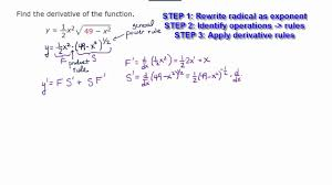 Derivative Involving Product Rule And General Power Rule Part 1
