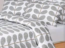 orla kiely scribble stem grey double duvet and pillow cases