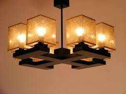 wooden chandeliers chandelier eight lights four brown wooden arms golden fabric lamp shades white wooden chandeliers