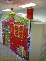 images office cubicle christmas decoration. My Elf House - Christmas Office Work Cubicle Decoration Cube Workspace Images R
