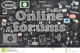 Network Design Online Forum Connecting In Online Forums Stock Illustration