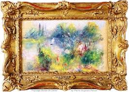 paysage bords de seine painting by pierre auguste renoir french impressionist at virginia flea market for 50 and valued at up to 100 000 by potomack