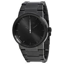 nixon cannon all black men s watch a160001 nixon watches nixon cannon all black men s watch a160001