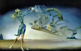 mirage by salvador dalí 1946 oil on canvas 14 x 23 ¼ inches