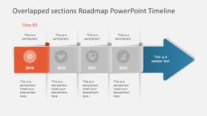 Road Map Powerpoint Overlapped Sections Roadmap Powerpoint Timeline Slidemodel