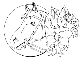Valentine Horse Coloring Pages