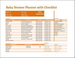 Baby Shower Planner With Checklist Baby Shower Planner Template