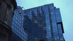 Modern glass buildings in the City of London - LONDON, ENGLAND OCTOBER 29,  2015