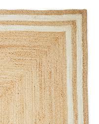 square jute border rug swatch