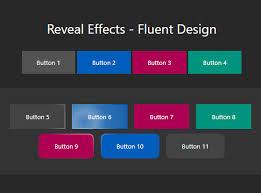Button Design Fluent Design Button Hover Click Effects Fluent Reveal