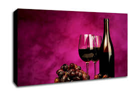 red wine grapes on wine canvas wall art uk with kitchen wide panel canvas art by wallart direct uk