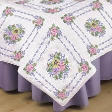 82 best Embroidery quilt blocks I have images on Pinterest | Guest ... & Flower Bouquet Stamped Embroidery & Quilting Blocks - Set of 6 Each x Adamdwight.com