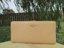 Coach Madison Nude Leather Skinny wallet Clutch Organizer ID Window No.  51936
