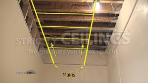 basic ceiling grid layout drop