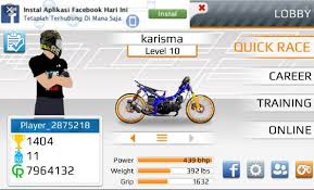 drag bike 201m mod indonesia