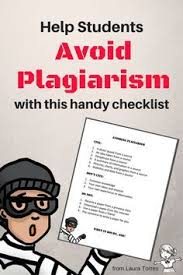 best avoiding plagiarism ideas plagiarism tool  this pin gives students a handy checklist to help them avoid plagiarizing the checklist tells students when they have to and when they don t have to cite