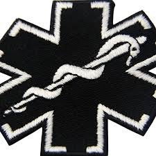 Amazon.com: EmbTao Glow in Dark ACU EMS EMT Medic Paramedic Star of Life  Morale Tactical Embroidered Applique Iron On/Sew On Patch - Black & White:  Arts, Crafts & Sewing