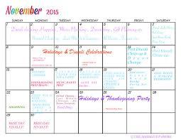 November 2015 Calendar Printable The Messed Up Home