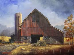 this is one of the many iconic old barns in rural utah this particular one is located in the west layton area sure enjoyed this nostalgic painting
