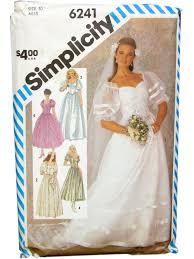 Simplicity Wedding Dress Patterns Custom Retro Eighties Sewing Pattern 48 Simplicity 48 Womens Sewing