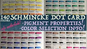 140 Color Schmincke Dot Card Pigment Property Info Self Taught Artists