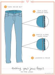 Make Pants Refashioned Make Skinnies Bigger Sewing Make Skinny