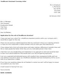 Cover Letter Examples For Medical Assistant Healthcare Assistant Cover Letter Example Learnist Org