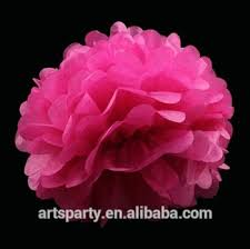 Pink Paper Flower Decorations 4inch 10cm Hot Pink Paper Flower For Wedding Party Decorations Wholesale Tissue Paper Pom Poms Buy Paper Pom Poms Paper Flower Wedding Decoration
