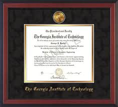 best tech diploma frames graduation gifts images on   tech diploma frame cherry reverse w 24k gold plated medallion black suede on gold mat