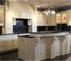 Great Beautiful Antique White Kitchen Cabinets With Dark Island How To Paint  Kitchen Cabinets Antique White
