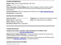 weekly syllabus template cool online course syllabus template ideas resume templates