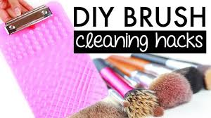 how to clean makeup brushes diy tips