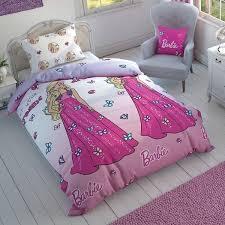 single twin original barbie summer 100 cotton bedding quilt duvet cover set 2pc for