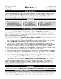 resume model for job web developer resume sample monster com