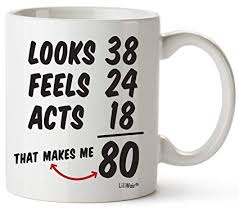 80th birthday gifts for women forty years old men gift happy funny 80 mens womens womans