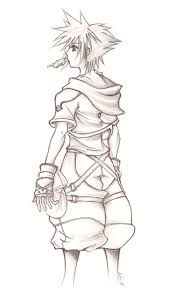 Small Picture Kingdom Hearts II Sora Sketch by Anii Ki on DeviantArt