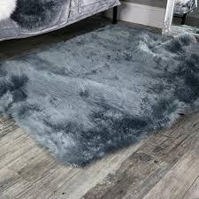 large fur rug image of large grey faux fur rug