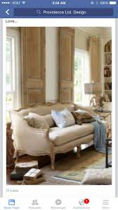 Love the interior shutters Belle Bergere Sofa from Soft Surroundings