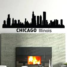 chicago skyline wall decals wall decals vinyl stickers skyline silhouette city wall decal removable wall art