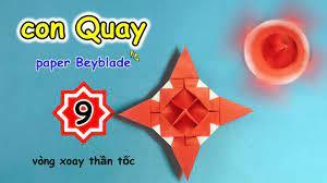 Beyblade 💠 Hướng dẫn cách gấp con Quay bằng giấy 🎇 Vòng xoáy thần tốc ✨  spinning Top💠 con quay V9 - YouTube