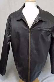 machine clothing co men s faux leather jacket black lined size xl